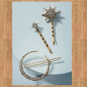 Anthropologie Night Sky Bobby Pin Set